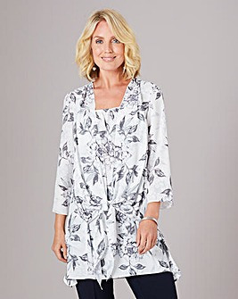 Julipa Tie Front Layered Tunic
