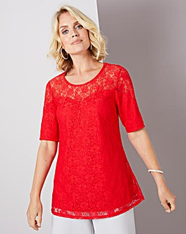 Julipa Red Lace Swing Top