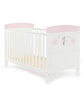 Obaby Minnie Mouse Hearts Cot Bed
