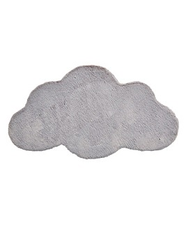 Children's Luxury Faux Fur Cloud Shaped Rug