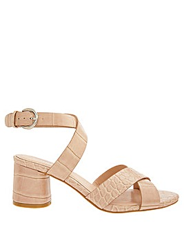 Monsoon Caz Croc Mid Block Heel Sandal