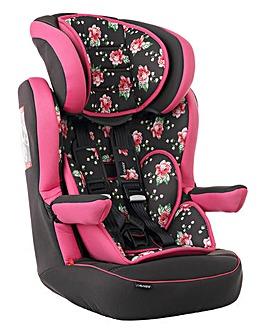 Obaby 1-2-3 Car Seat - Grey Rose