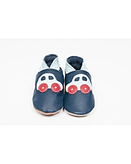 Hippychick Baby Shoes Navy Blue Cars