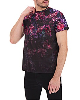 Floral Faded Sublimation Tee Long