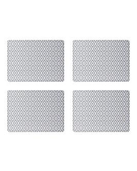 Grey Geo Placemat & Coaster Set