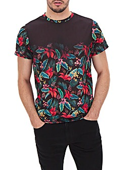 Floral Faded Sublimation T-Shirt Long