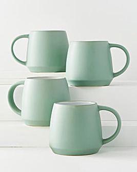 Sage Stoneware Set of 4 Mugs