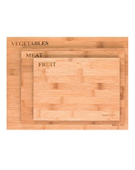 Salter Wooden Labelled Chopping Boards
