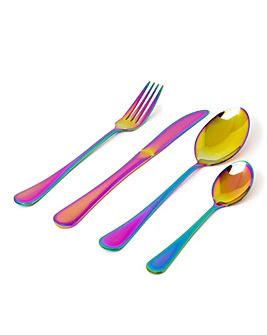 Iridescent 16 Piece Cutlery Set