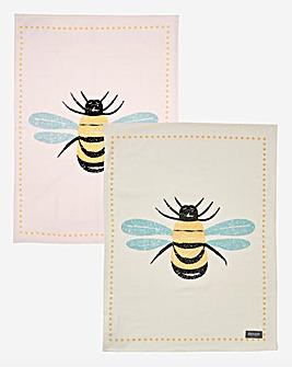 Bees Knees Set of Two Tea Towels