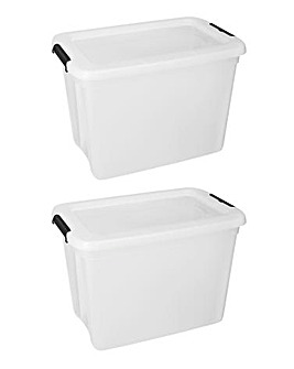 Set of 2 27L Storage Box with Lid