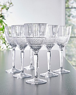 RCR Brillante Set of 6 Wine Glasses