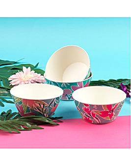 Evie Set of 4 Bamboo Bowls
