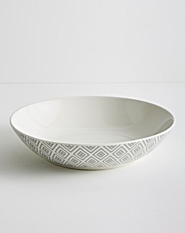 Grey Geo Set of 4 Pasta Bowls