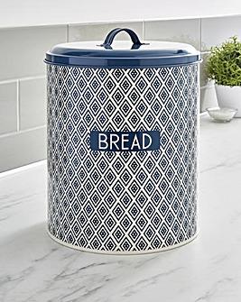 Navy Geo Bread Bin