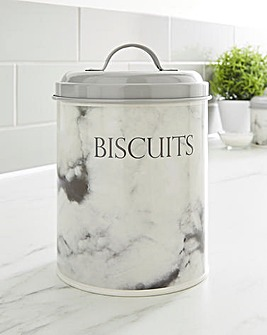 Marble Biscuit Tin
