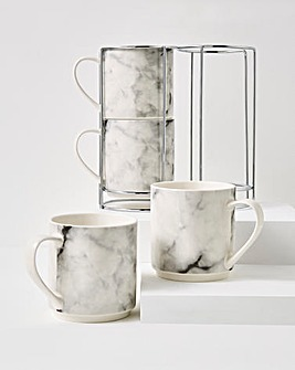 Marble Stacking Mugs