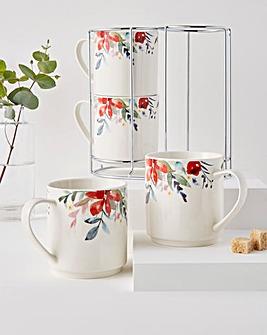 Floral Stacking Mugs