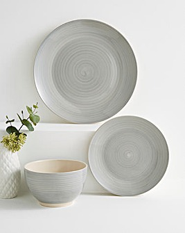 Spinwash Stoneware Dinner Set Grey