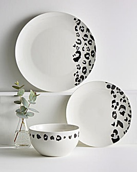 Leopard 12 Piece Dinner Set