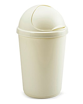 50L Plastic Bin Cream