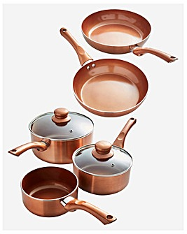 Cermalon Copper 5 Piece Pan Set