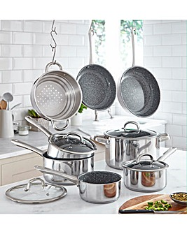 Durastone Stainless Steel 8 Piece Pan Set