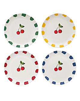Cath Kidston Cherries Set of 4 Plates