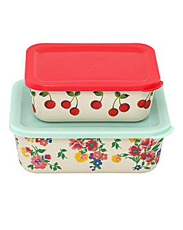 Cath Kidston Cherries Set of 2 Lunchboxes