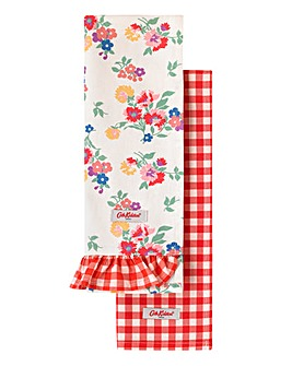 Cath Kidston Small Gingham Set of 2 Tea Towels
