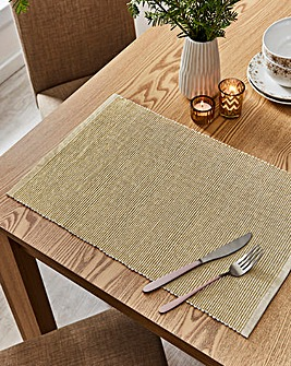 Set of 4 Gold Placemats