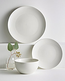 12 Piece White Dinner Set