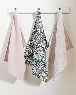 Midnight Garden Set of 3 Tea Towels