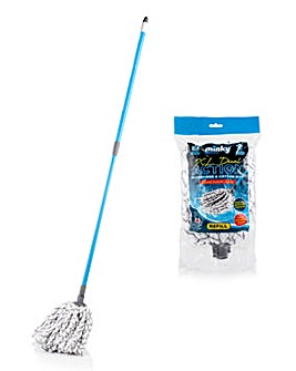 XL Dual Action Microfibre Mop and Refill