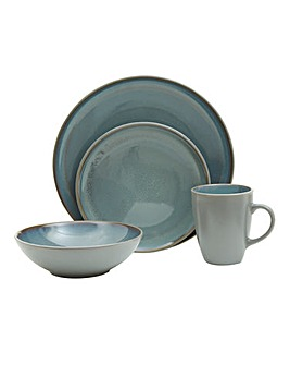 Two Tone 16 Piece Stoneware Dinner Set