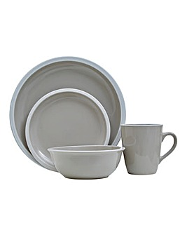 Grey Glazed 16 Piece Dinner Set