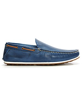 Daniel Bargoed Leather Perforated Loafer