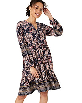 Monsoon Rowan Heritage Print Short Dress
