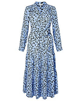 Monsoon Animal Printed Midi Shirt Dress