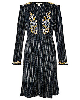 Monsoon Ginny Embroidered Midi Dress