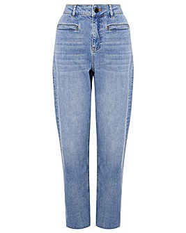 Monsoon LIGHT WASH WIDE LEG JEAN
