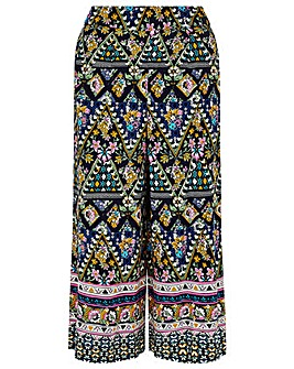Monsoon PLACEMENT PRINT CROP TROUSER