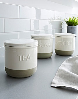 Set of 3 Dipped Canisters