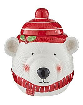 Polar Bear Biscuit Jar