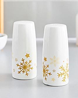 Golden Stars Salt & Pepper Shakers