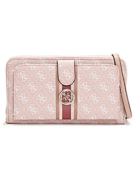 Guess Jensen Cheque Logo Organiser Cross-Body