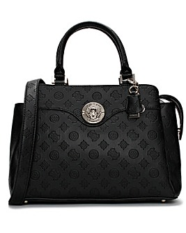 Guess Dayane Repeat Logo Stamp Satchel Bag