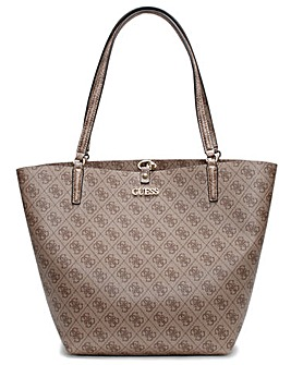 Guess Alby Repeat Logo Toggle Tote Bag