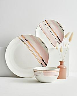 Brushed Glam 12 Piece Dinner Set