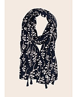 Brakeburn Trailing Leaf -Border Scarf